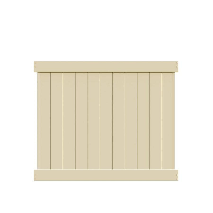 Freedom (Actual: 4.83-ft x 5.56-ft) Ready-to-Assemble Hampton Sand Vinyl Privacy Panel