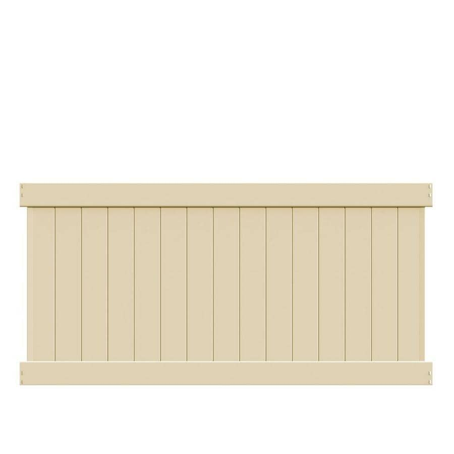 Freedom (Common: 4-ft x 8-ft; Actual: 3.83-ft x 7.56-ft) Ready To Assemble Bolton Sand Vinyl Privacy Fence Panel