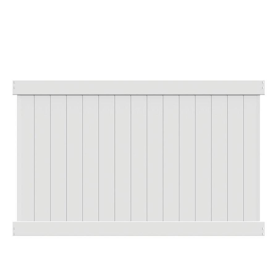 Freedom (Common: 5-ft x 8-ft; Actual: 4.83-ft x 7.56-ft) Ready To Assemble Bolton White Vinyl Privacy Fence Panel
