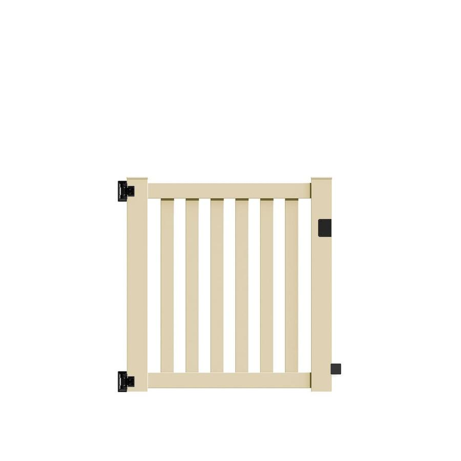 Freedom Terex Sand Vinyl Vinyl Fence Gate (Common: 4-ft x 4-ft; Actual: 4.04-ft x 3.83-ft)