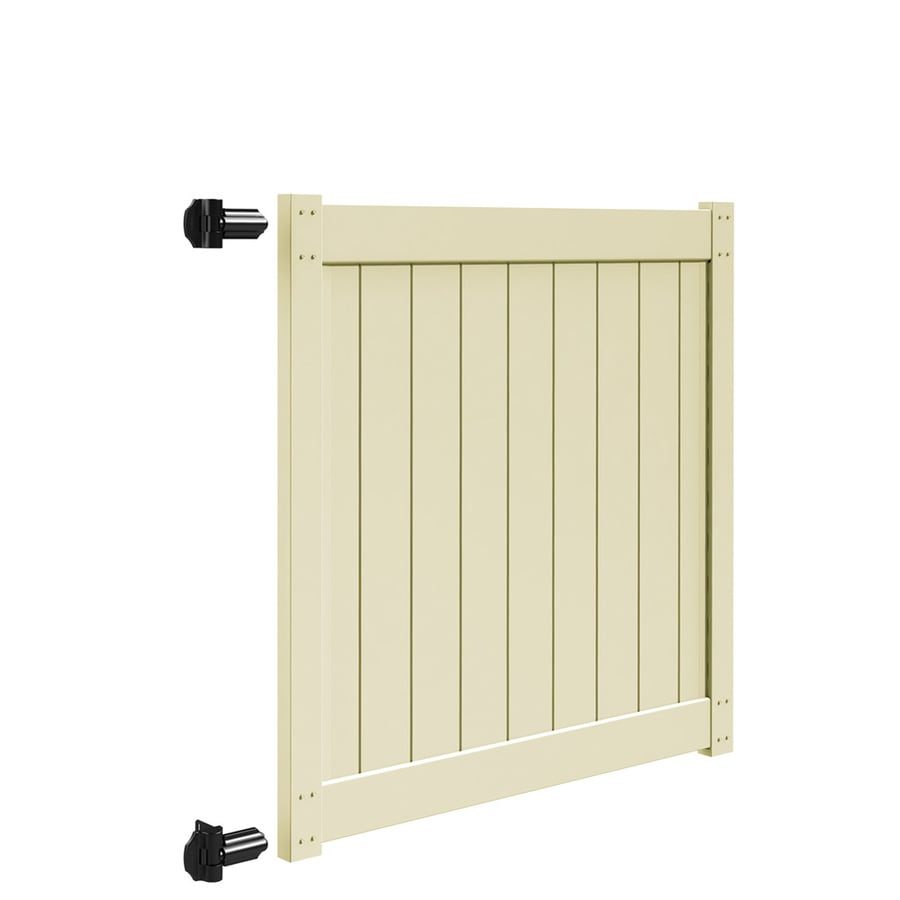 Freedom (Common: 5-ft x 5-ft; Actual: 5-ft x 4.83-ft) Sand Vinyl Privacy Gate