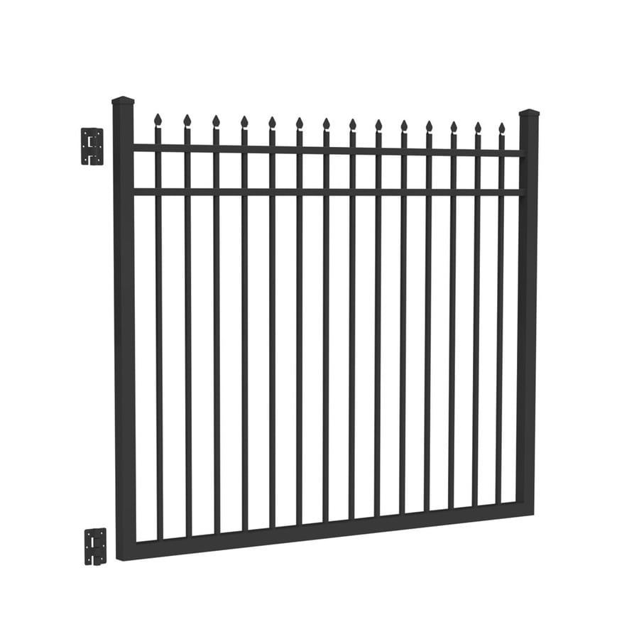 Freedom (Common: 5-ft x 6-ft; Actual: 5.02-ft x 5.875-ft) Providence Black Aluminum Decorative Fence Gate