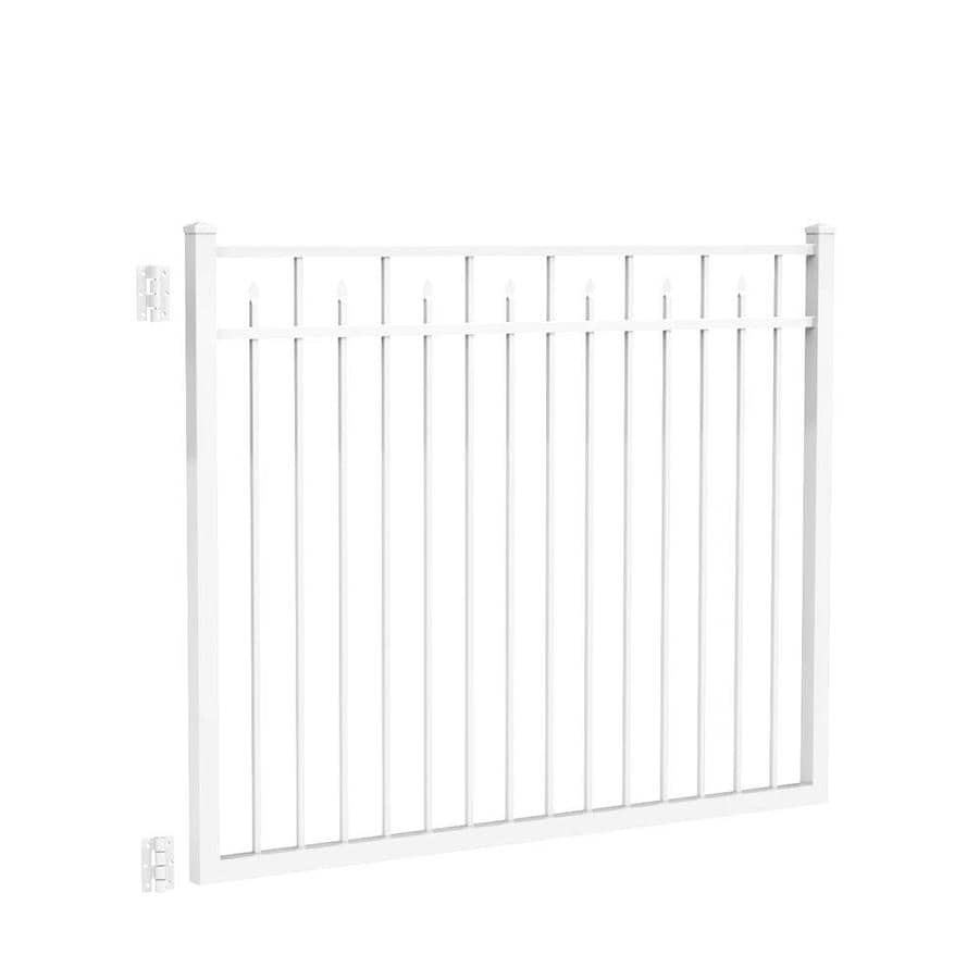 Freedom (Common: 4.5-ft x 6-ft; Actual: 4.7-ft x 5.875-ft) Concord White Aluminum Decorative Fence Gate