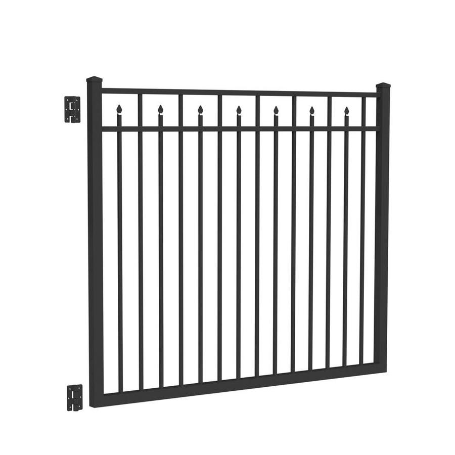 Freedom (Common: 5-ft x 6-ft; Actual: 5.04-ft x 5.875-ft) Concord Black Aluminum Decorative Fence Gate