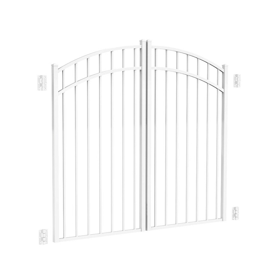 Freedom White Aluminum Driveway Gate (Common: 72-in; Actual: 69-in)