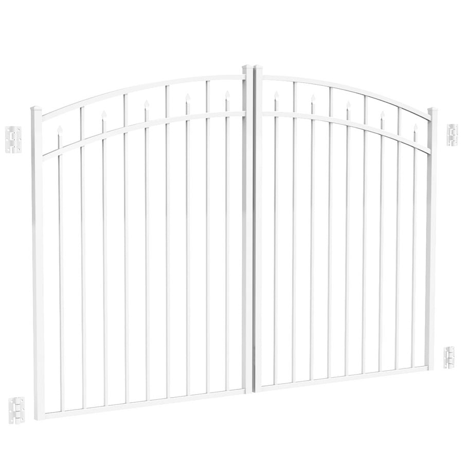 Freedom White Aluminum Driveway Gate (Common: 96-in; Actual: 93-in)