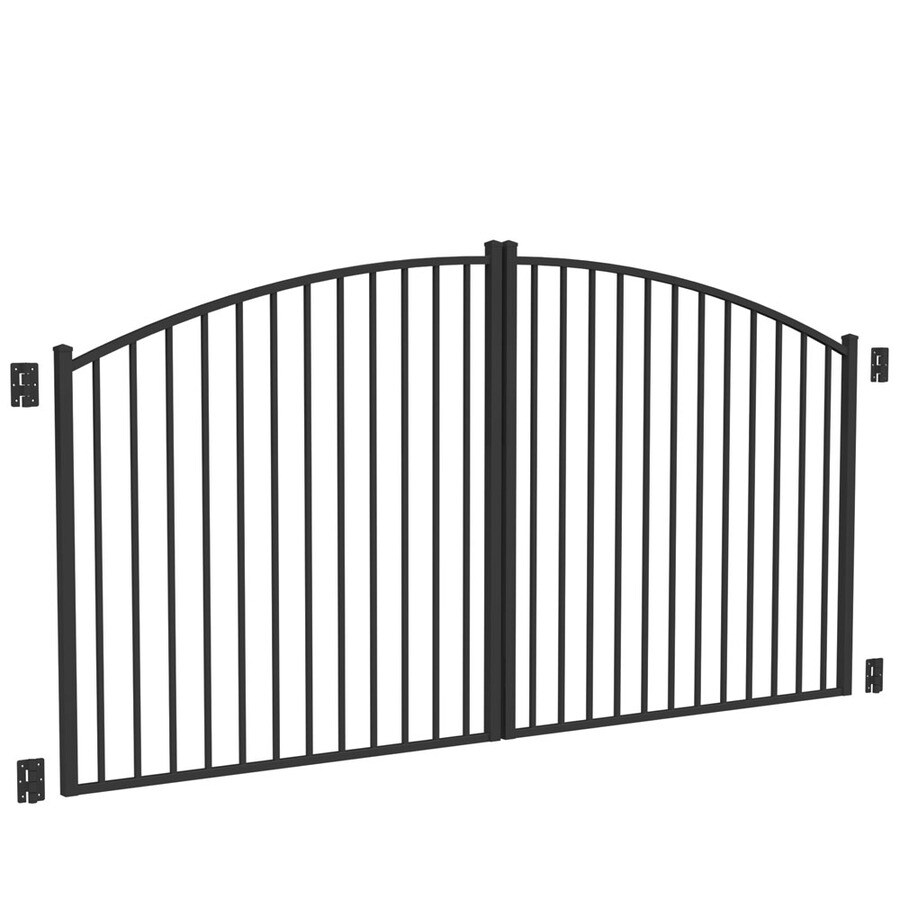 Freedom Black Aluminum Driveway Gate (Common: 120-in; Actual: 117-in)