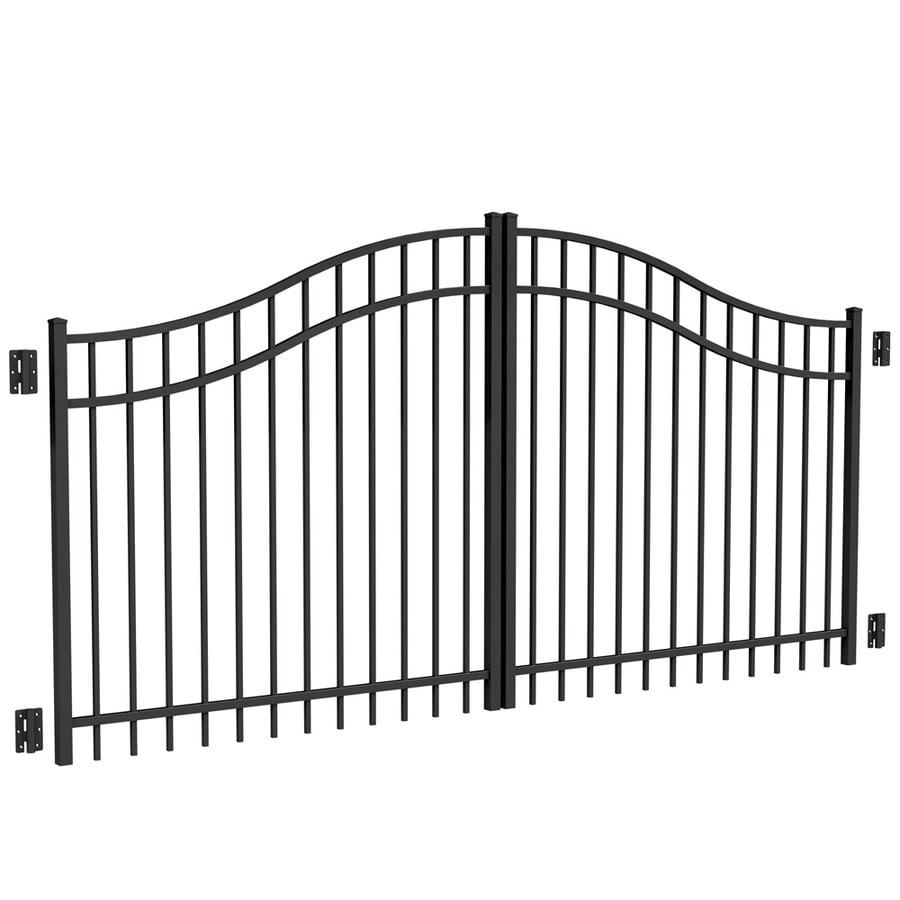 Freedom Black Aluminum Driveway Gate