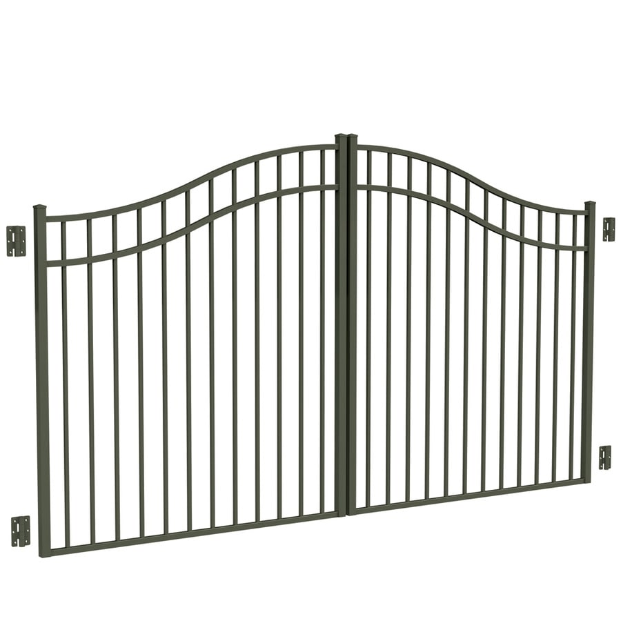 Freedom Pewter Aluminum Driveway Gate