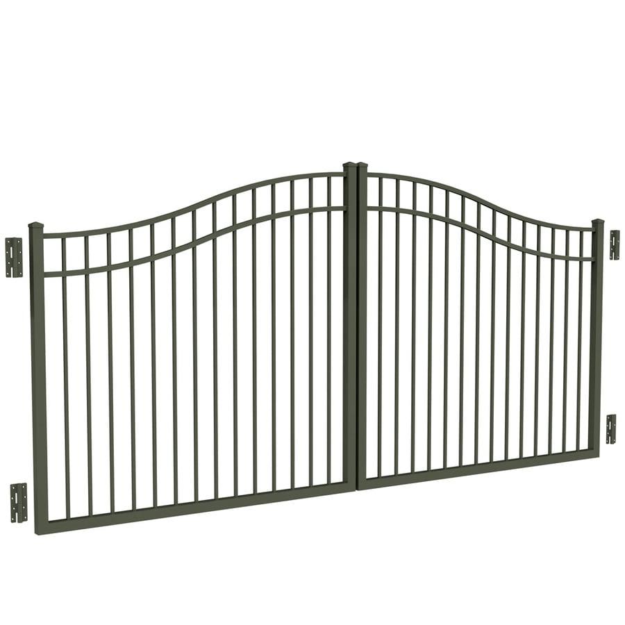 Freedom Pewter Aluminum Driveway Gate