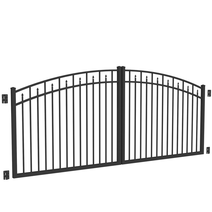 Shop Freedom Black Aluminum Driveway Gate (Common: 144-in ...