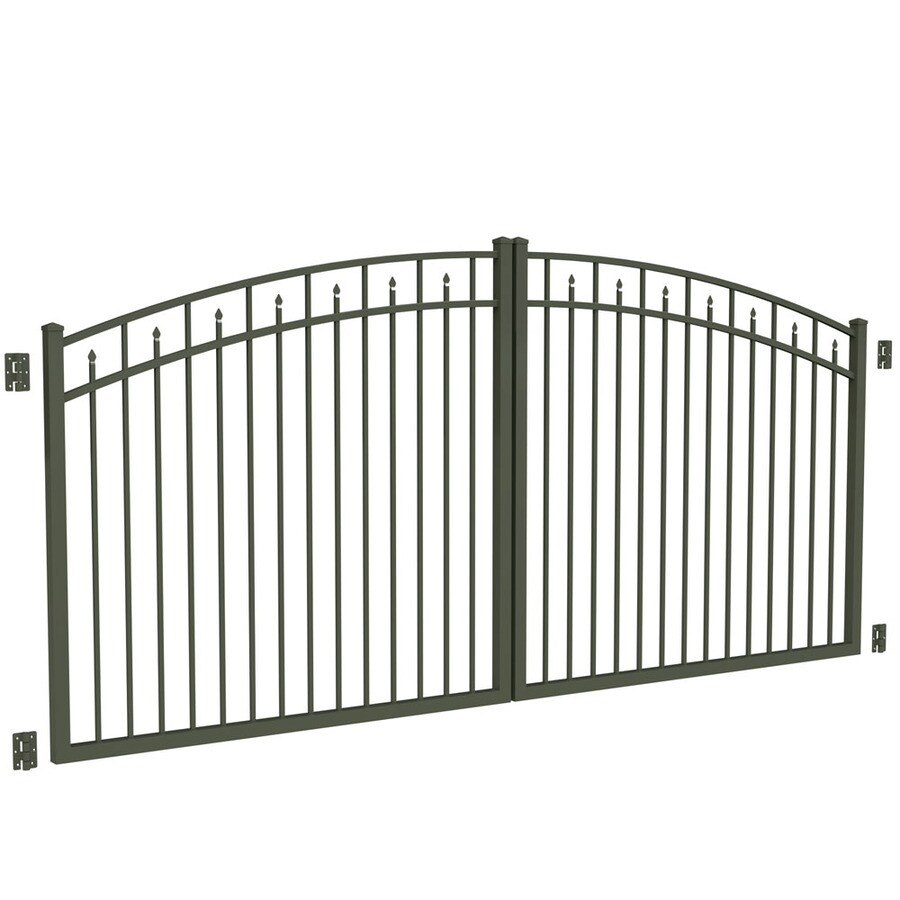 Freedom Pewter Aluminum Driveway Gate (Common: 144-in; Actual: 141-in)