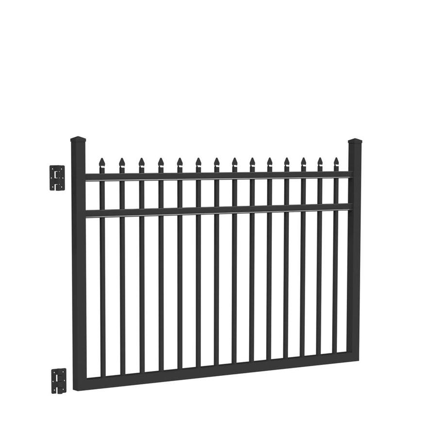 Freedom (Common: 4-ft x 6-ft; Actual: 4.02-ft x 5.875-ft) Providence Black Aluminum Decorative Fence Gate