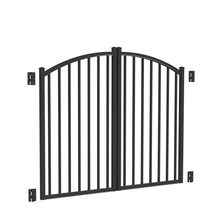 Freedom Black Aluminum Driveway Gate (Common: 72-in; Actual: 69-in)