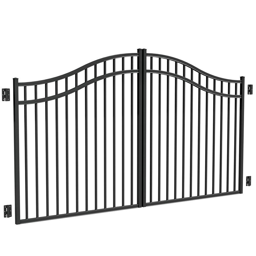 Shop Freedom Black Aluminum Driveway Gate At
