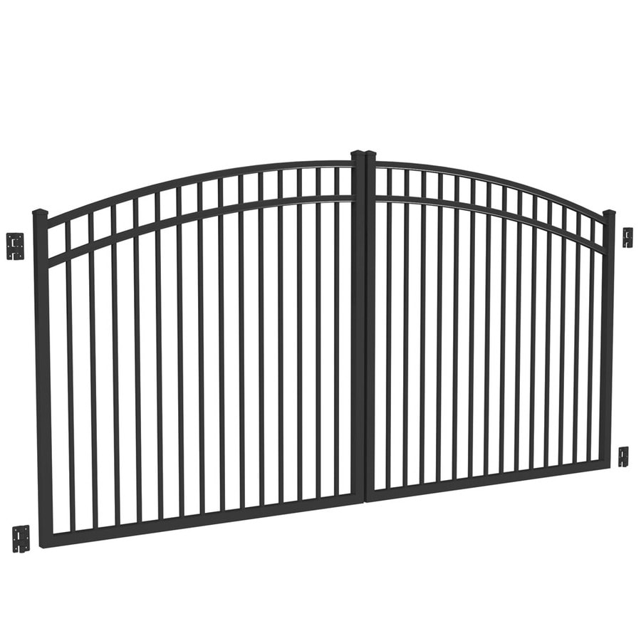 Freedom Black Aluminum Driveway Gate (Common: 144-in; Actual: 141-in)