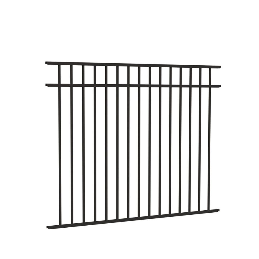 Freedom (Actual: 4.5-ft x 6.02-ft) Standard New Haven Black Aluminum Decorative Fence Panel