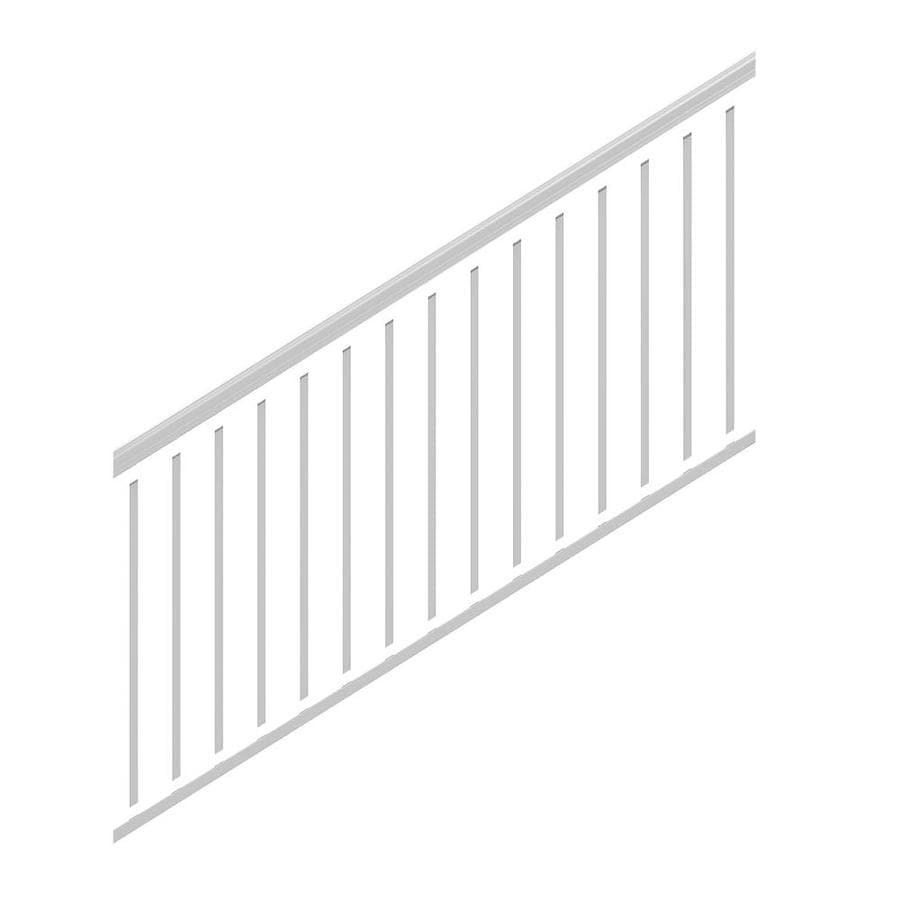 Freedom (Common: 6-ft; Actual: 2.975-in x 2.25-in x 5.77-ft) Cambridge White Aluminum Deck Universal Rail