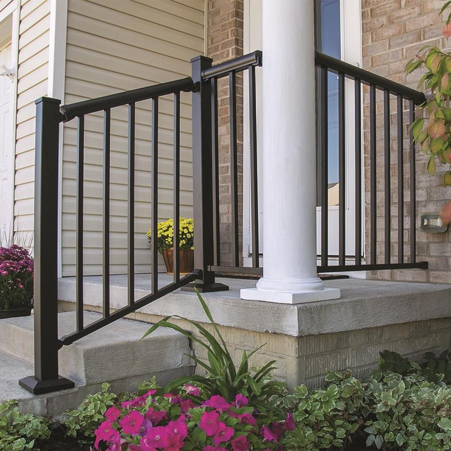Freedom Mix and Match Matte Black Aluminum Deck Baluster (Actual: 0.75-in x 0.75-in x 33-in)