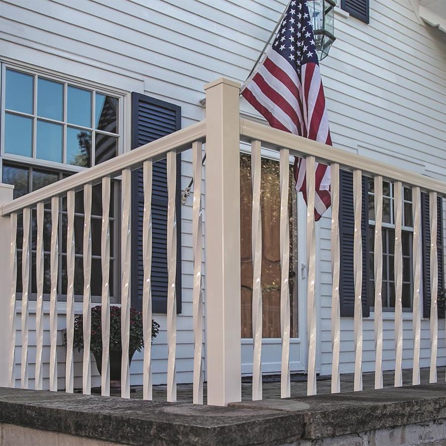 Freedom Mix and Match White Aluminum Deck Baluster (Actual: 0.75-in x 0.75-in x 33-in)