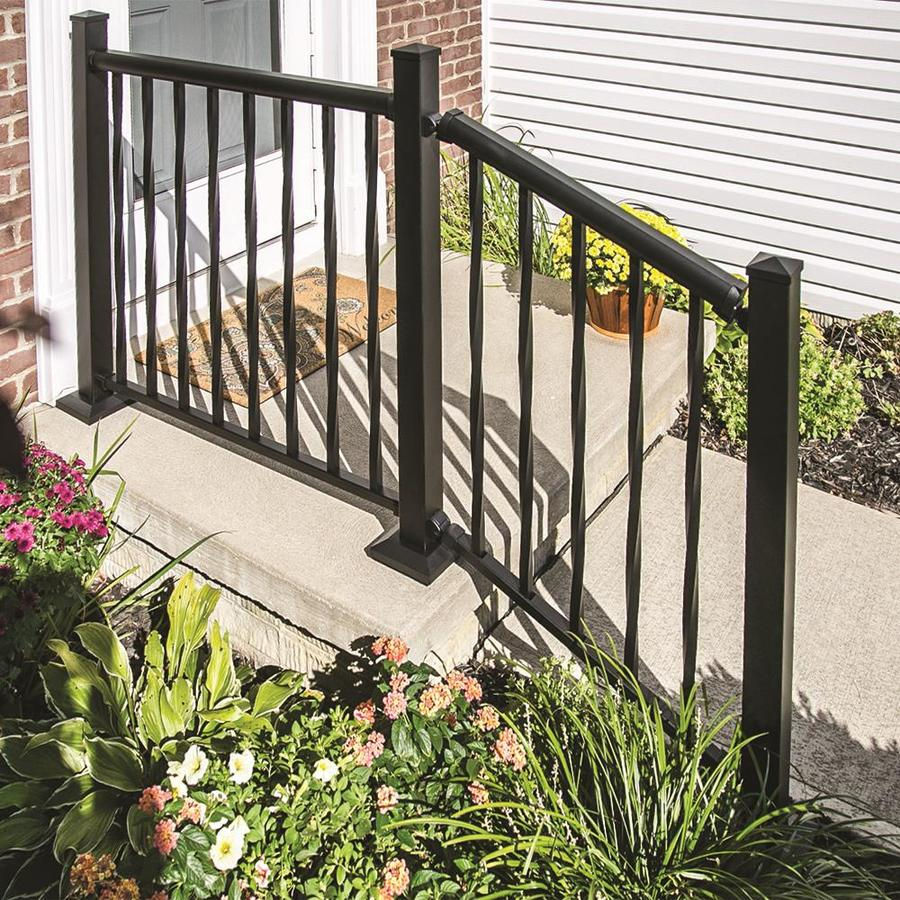 Freedom (Actual: 0.75-in x 0.75-in x 33-in) Mix and Match Matte Black Aluminum Deck Baluster