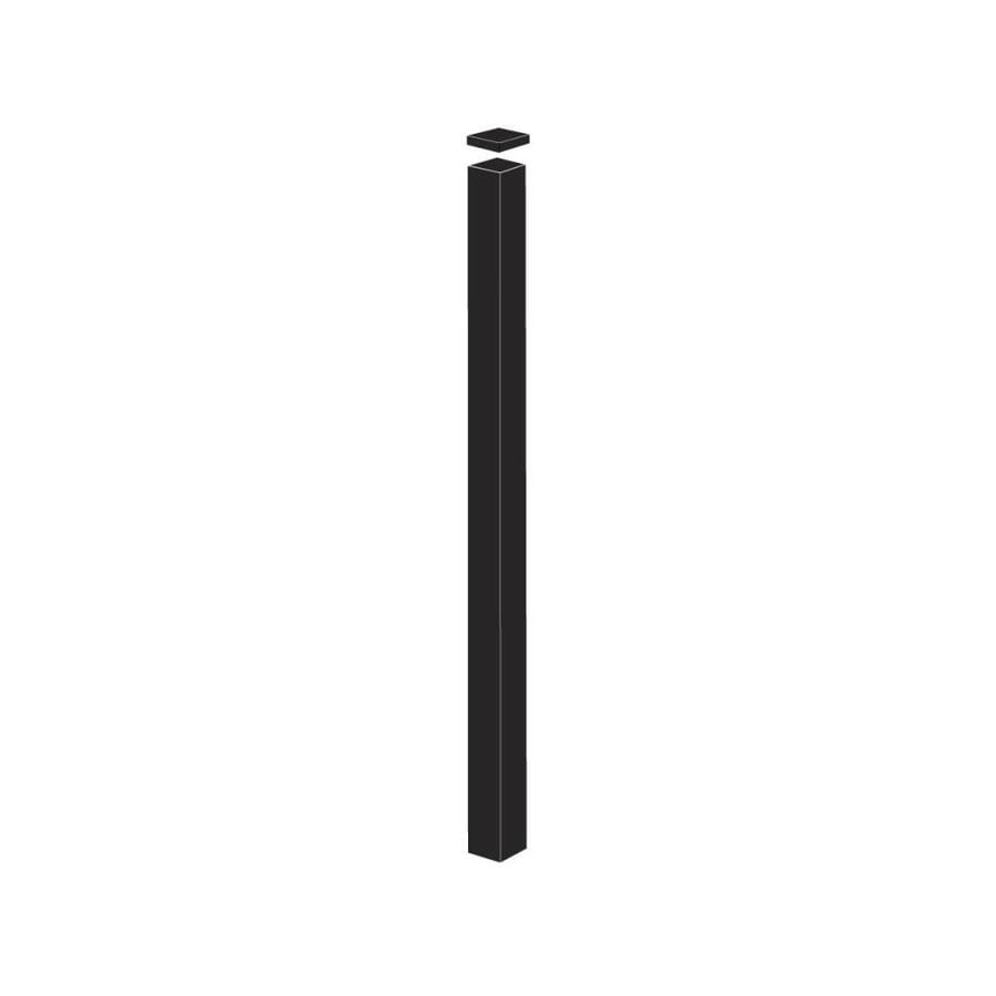 Freedom (Common: 2-in x 2-in x 7-1/2-ft; Actual: 2-in x 2-in x 7.33-ft) Standard Black Aluminum Fence Blank Post