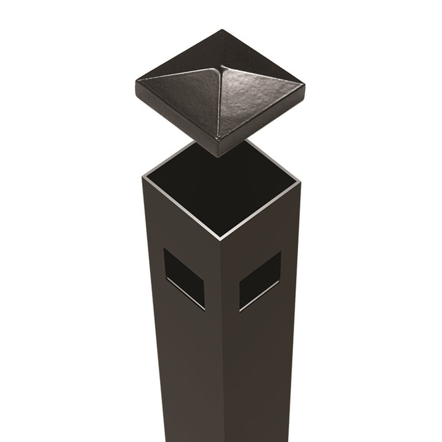 Freedom (Common: 2-in x 2-in x 6-ft; Actual: 2-in x 2-in x 5.83-ft) Ready-To-Assemble Black Aluminum Corner Post