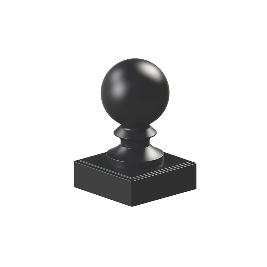 Freedom Black Metal Aluminum Fence Post Cap (Fits Common Post Measurement: 4-in; Actual: 4.2-in x 4.2-in)