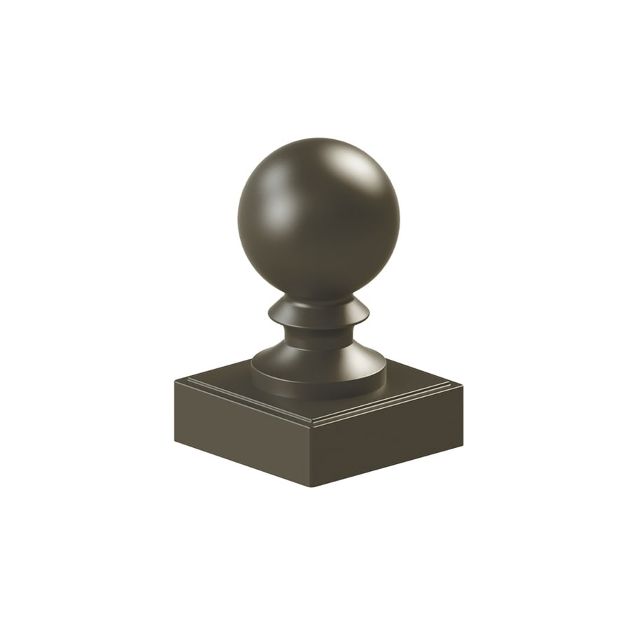 Freedom Pewter Metal Aluminum Fence Post Cap (Fits Common Post Measurement: 4-in; Actual: 4.2-in x 4.2-in)