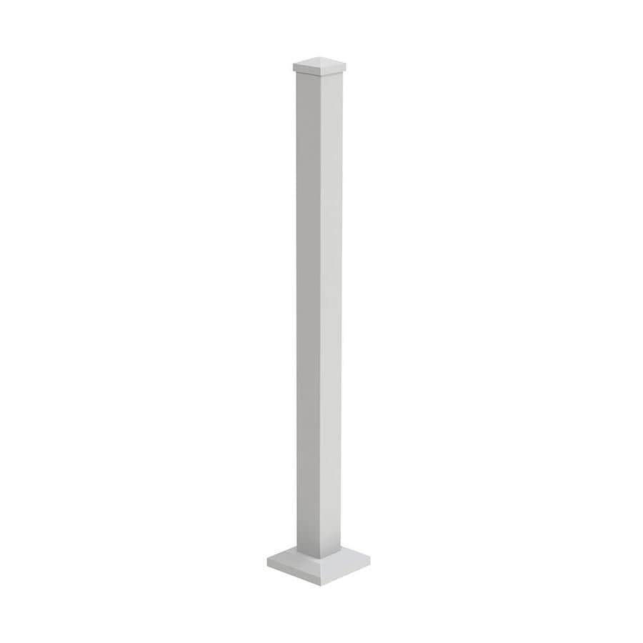 Freedom (Common: 4-ft; Actual: 2.5-in x 2.5-in x 3.75-ft) Mix and Match White Aluminum Deck Post