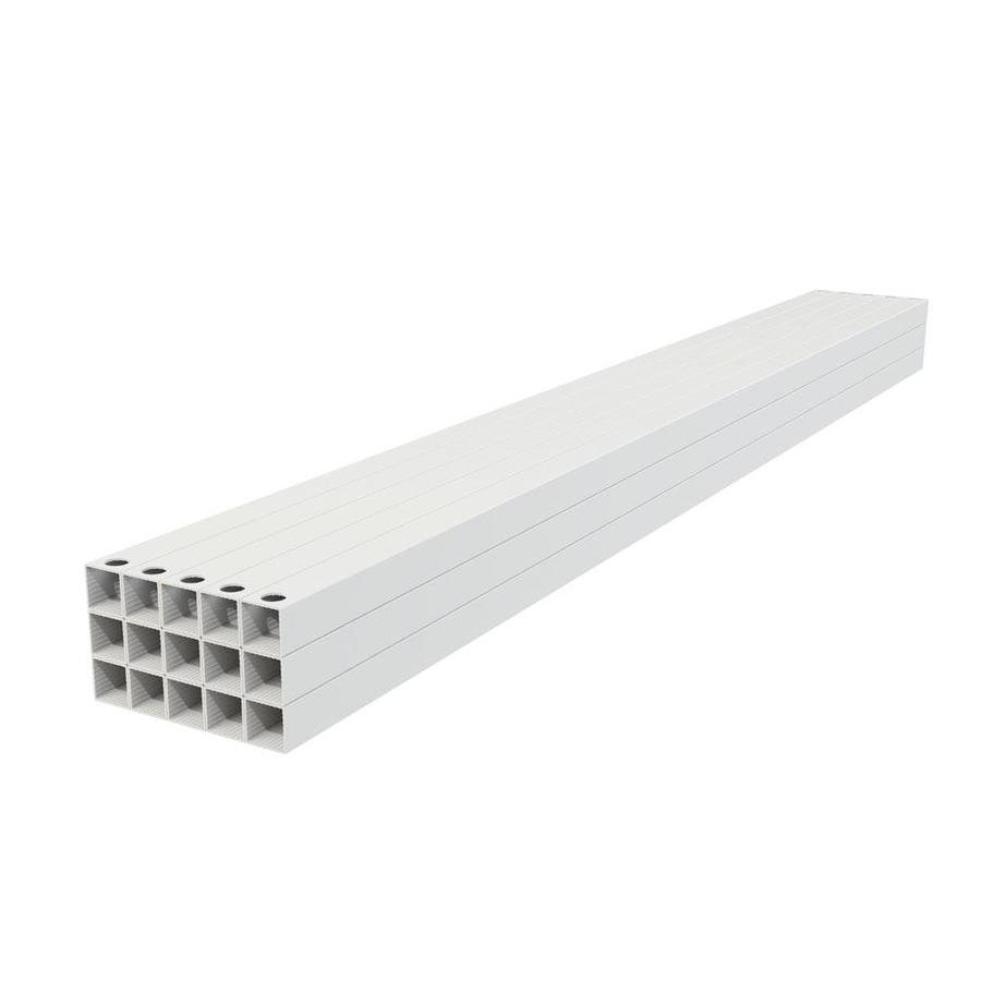 Freedom (Actual: 0.75-in x 0.75-in x 39-in) Mix and Match White Aluminum Deck Baluster