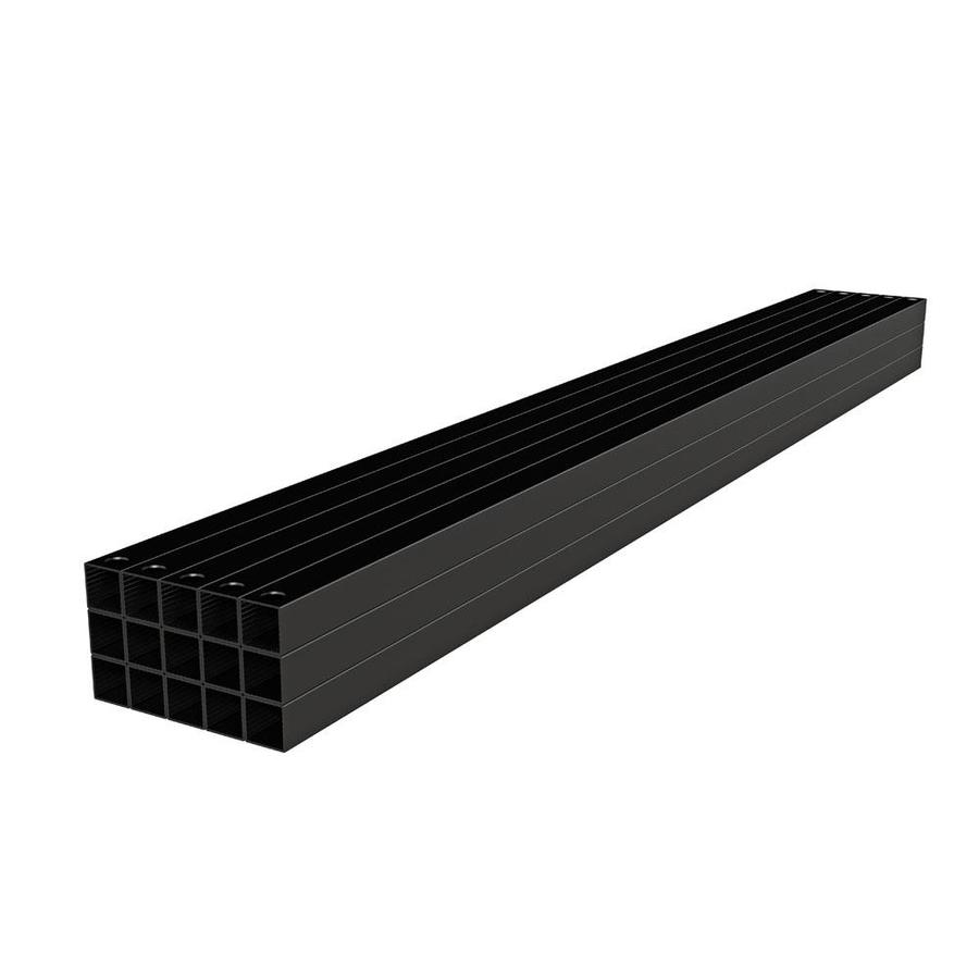 Freedom Mix and Match Matte Black Aluminum Deck Baluster (Actual: 0.75-in x 0.75-in x 39-in)