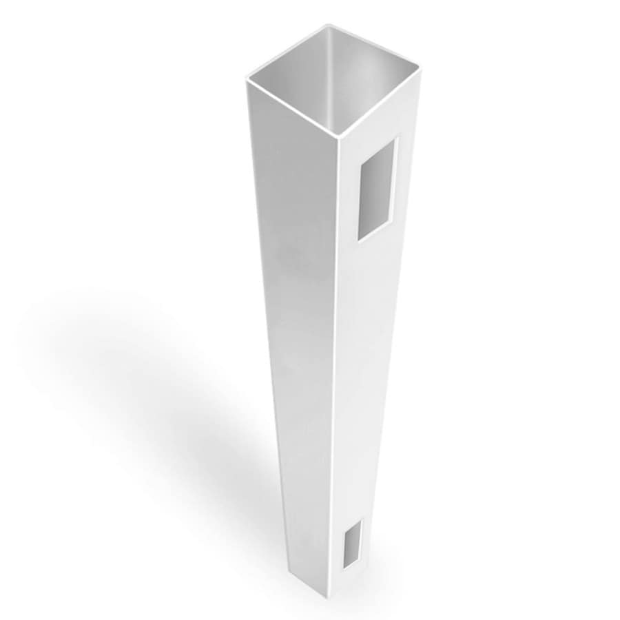 Freedom (Common: 5-in x 5-in x 7-ft; Actual: 5-in x 5-in x 7-ft) Ready-To-Assemble White Vinyl End Post