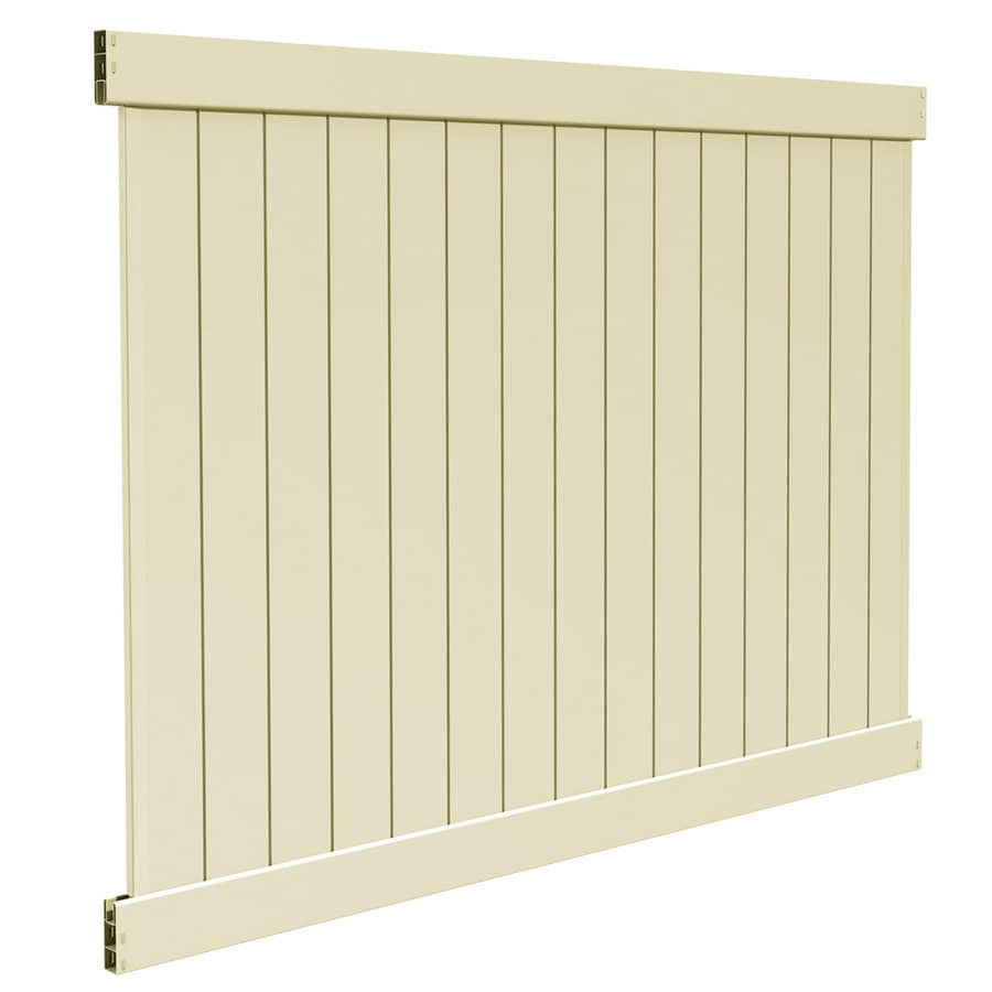 Freedom (Actual: 5.83-ft x 7.56-ft) Ready-to-Assemble Bolton Sand Vinyl Privacy Panel