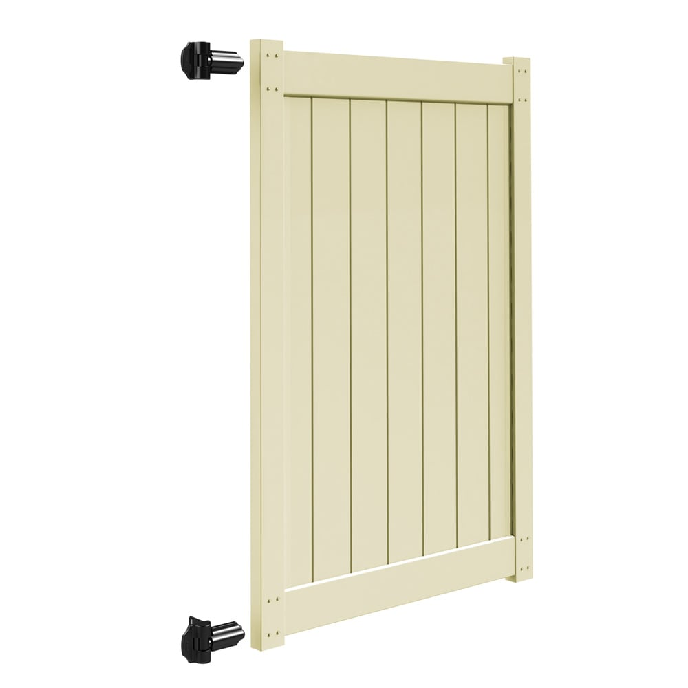 Freedom (Common: 6-ft x 4-ft; Actual: 5.83-ft x 3.83-ft) Sand Vinyl Privacy Gate Kit