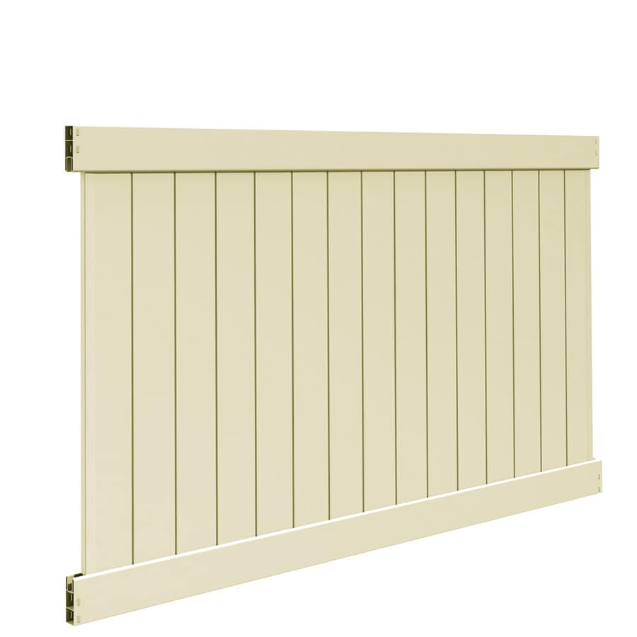 Freedom (Common: 5-ft x 8-ft; Actual: 4.83-ft x 7.56-ft) Ready To Assemble Bolton Sand Vinyl Privacy Fence Panel