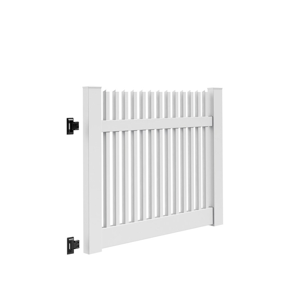 Freedom Keswick White Vinyl Vinyl Fence Gate Kit (Common: 4-ft x 5-ft; Actual: 4-ft x 4.83-ft)