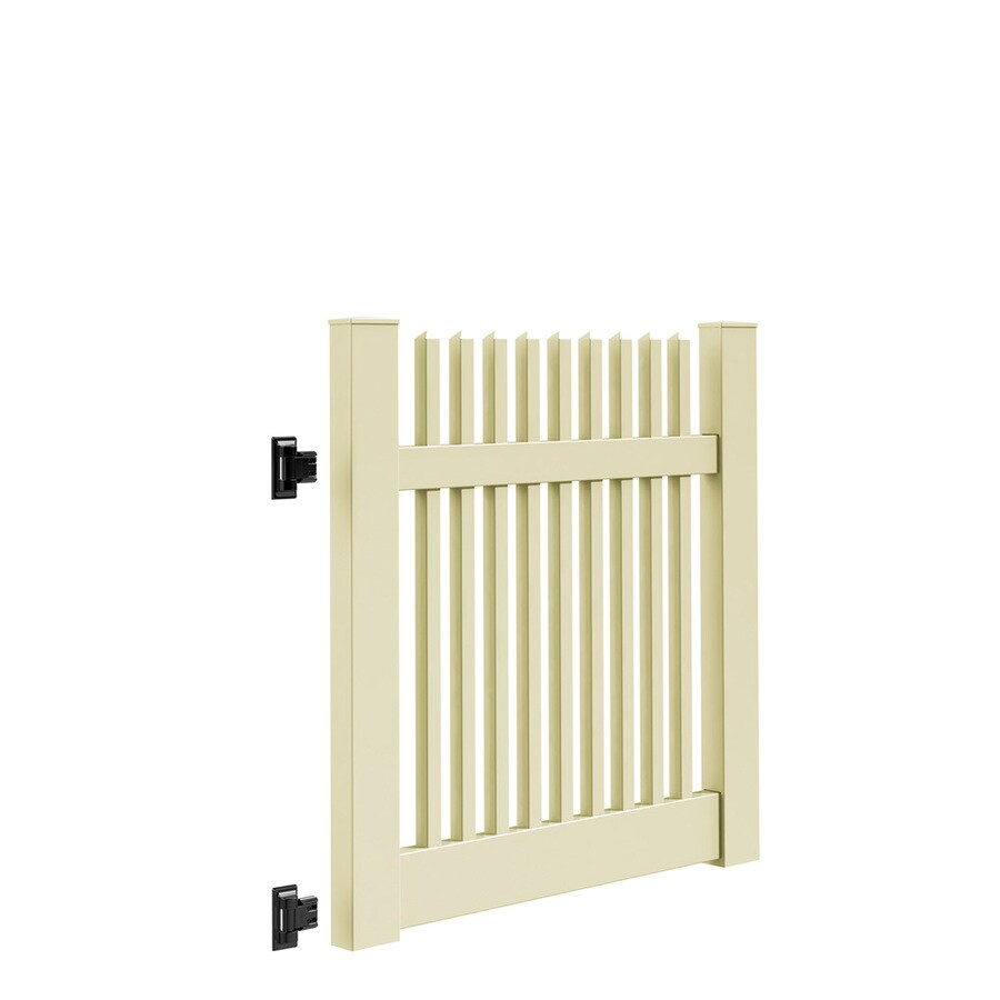 Freedom (Common: 4-ft x 4-ft; Actual: 4-ft x 3.83-ft) Keswick Sand Vinyl Gate Kit