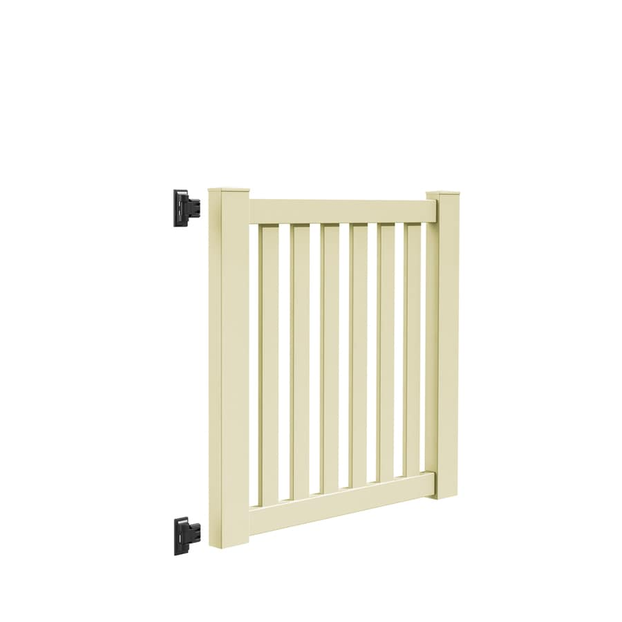 Freedom Terex Sand Vinyl Vinyl Fence Gate Kit (Common: 4-ft x 4-ft; Actual: 4.04-ft x 3.83-ft)