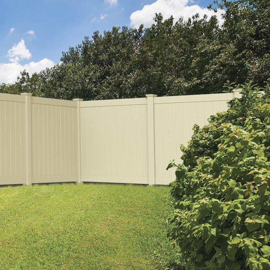 Freedom (Common: 6-ft x 6-ft; Actual: 5.83-ft x 5.56-ft) Ready To Assemble Hampton Sand Vinyl Privacy Fence Panel