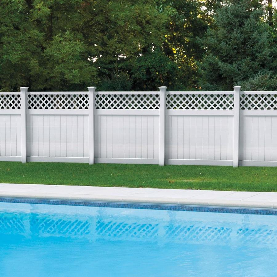 Freedom (Common: 6-ft x 6-ft; Actual: 5.83-ft x 5.56-ft) Ready To Assemble Freeport White Vinyl Semi-privacy Fence Panel