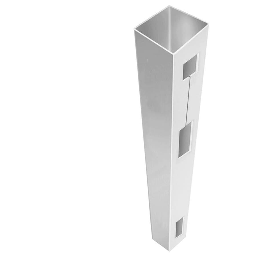 Freedom (Common: 5-in x 5-in x 8-1/2-ft; Actual: 5-in x 5-in x 8.5-ft) Ready-To-Assemble White Vinyl End Post