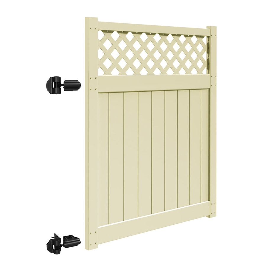 Freedom (Common: 6-ft x 5-ft; Actual: 5.83-ft x 4.83-ft) Freeport Sand Vinyl Semi-Privacy Gate Kit