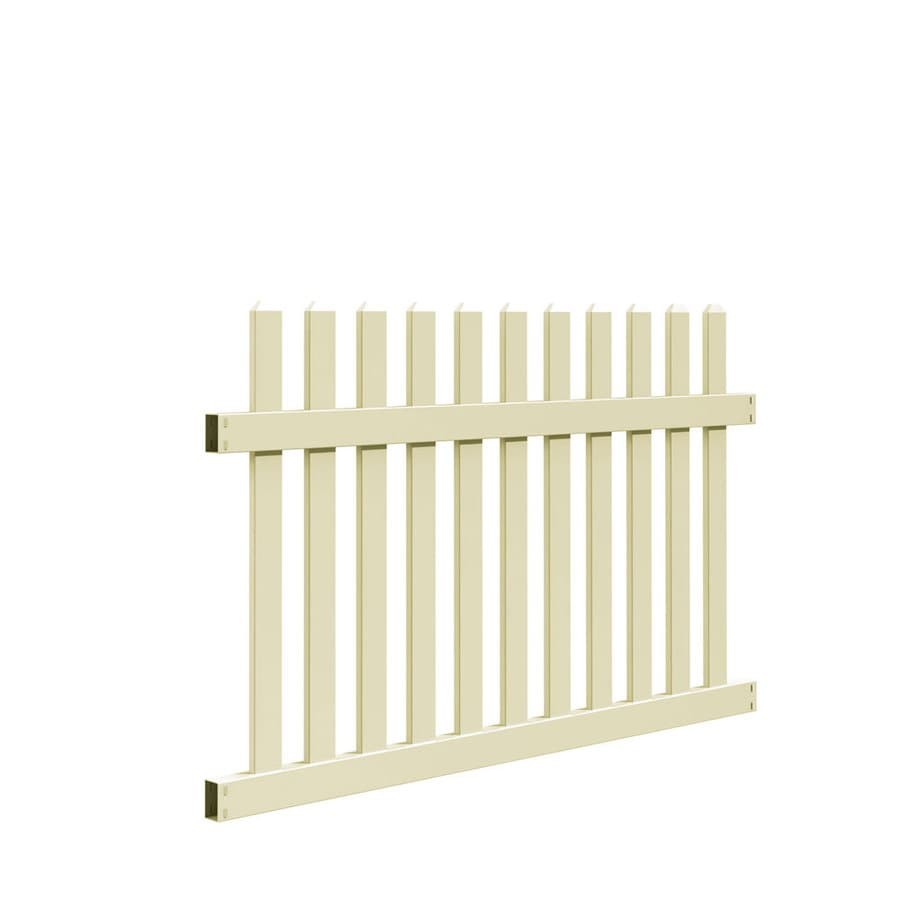 Freedom (Common: 4-ft x 6-ft; Actual: 3.83-ft x 5.64-ft) Ready To Assemble Coventry Sand Vinyl Fence Panel