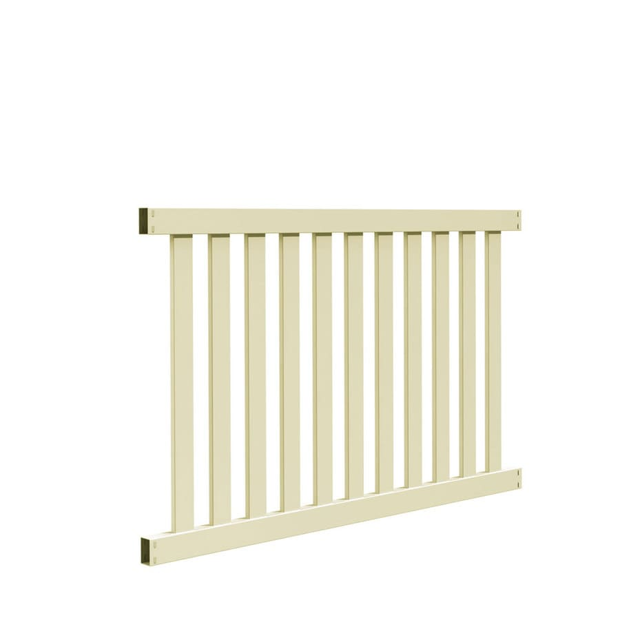 Freedom (Common: 4-ft x 6-ft; Actual: 3.83-ft x 5.64-ft) Ready To Assemble Durham Sand Vinyl Fence Panel