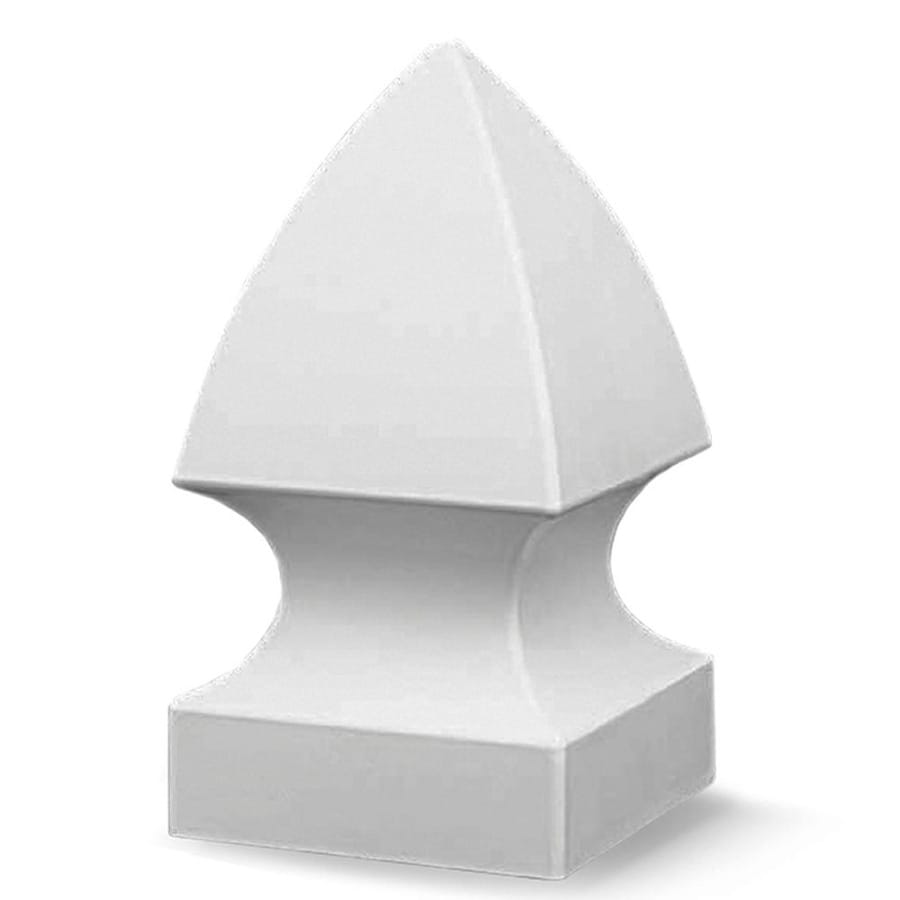 Freedom (Fits Common Post Measurement: 4-in; Actual: 4-in x 4-in) White Vinyl Post Top