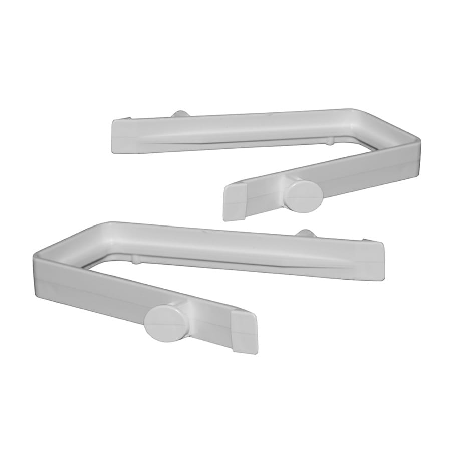Gatehouse Ready-to-Assemble 2-Pack White Vinyl Fence Rail Clips