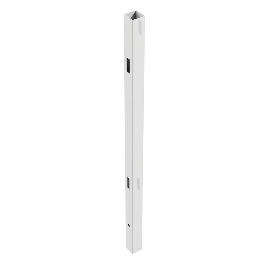 Freedom (Common: 5-in x 5-in x 9-ft; Actual: 5-in x 5-in x 9-ft) Ready-To-Assemble White Vinyl Line Post