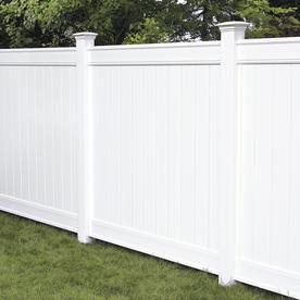 Vinyl fencing Pvc Freedom actual 583ft 583ft Readyto Reliable Fence Boston Vinyl Fence Panels At Lowescom