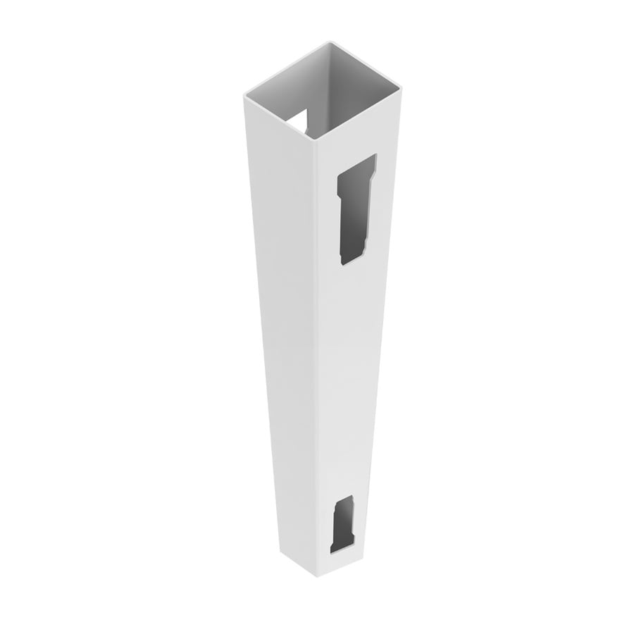 Freedom Ready-to-Assemble White Vinyl Fence Line Post (Common: 5-in x 5-in 8-ft; Actual: 5-in x 5-in 8-ft)